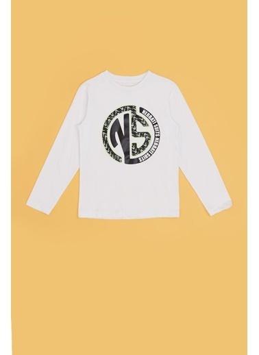 Nebbati Erkek Çocuk Beyaz T-Shirt 20Fw0Nb3524 Beyaz